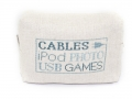 Hand Embroidered Cables Storage Bag (Medium, Blue) - Malulu Ltd