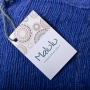 Royal Blue Kenyan Cotton Hand Woven Scarf (Close Up) - www.malulu.co.uk