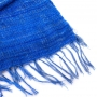 Hand Woven Kenyan Silk & Cotton Blended Scarf (Royal Blue) Close Up - www.malulu.co.uk