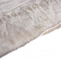 Hand Woven Kenyan Silk & Cotton Blended Scarf (Natural) Close Up - www.malulu.co.uk