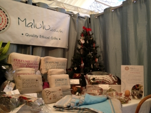 Malulu at the Royal Kingston Christmas Fair 2013