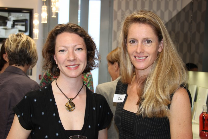 Malulu Director, Louise Edwards with Gillian Sanders - SA Olympic Triathlete