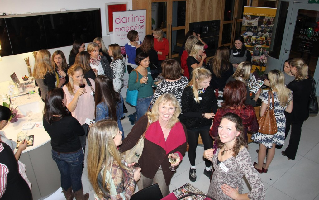 Malulu's Director, Louise Edwards (bottom right band corner) at the SA Ladies Networking event by Darling Magazine, in December 2013.