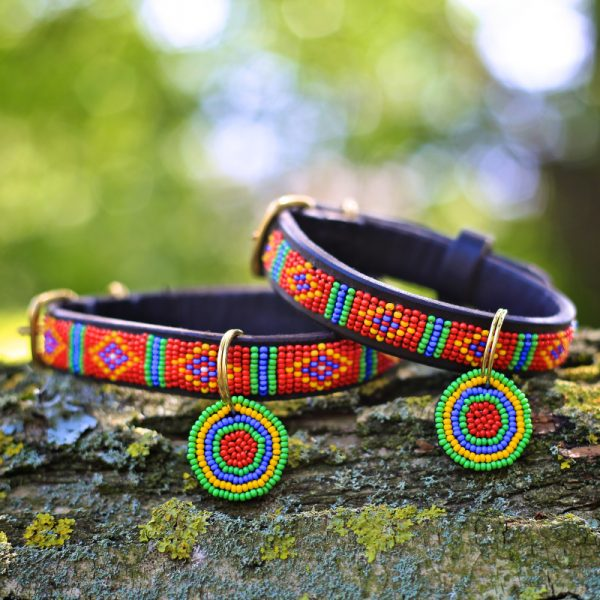 Mombasa Red Dog Collar by Malulu - Photo by Bridget Davey