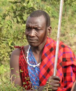 Masai Warrior wearing the traditional Shuka - www.malulu.co.uk