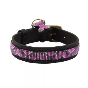 Zigzag Pink Dog Collars