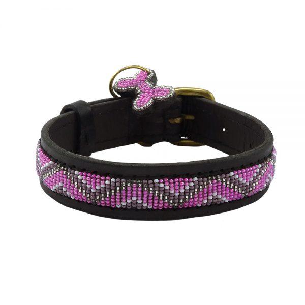 Zigzag Pink Dog Collars
